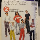 McCalls 9544 2 Hour Misses' & Men's Unisex Pants (size 44,46)