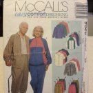 McCalls 9526 Misses' & Men's Unisex Jacket, Shirt & Pull-On Pants or Shorts (size 42,44)