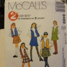 McCalls 9469 Children's & Girls' Skirt & Lined Vest Sets (size 12,14,16)