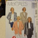 McCalls 2948 Misses' Lined or Unlined Jacket (size 14,16,18)
