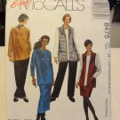 McCalls 8475 Women's Vest, Top, Pull-on Pants & Skirt in Two Lengths (Size 18w,20w,22w,36,38,40)