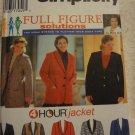 Simplicity 9711 Women's Jacket (size 18W-24W)