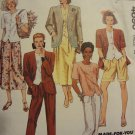 McCalls 4690 Misses' Unlined Jacket, Top, Skirt, Pants, & Shorts (Size 8)