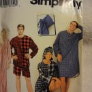 Simplicity 0636 Misses', Men's & Teen's Sleepwear (size L,XL)