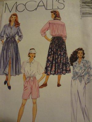 McCalls 6385 Misses' Shirt, Skirt, Pants & Shorts (size 4,6,8)