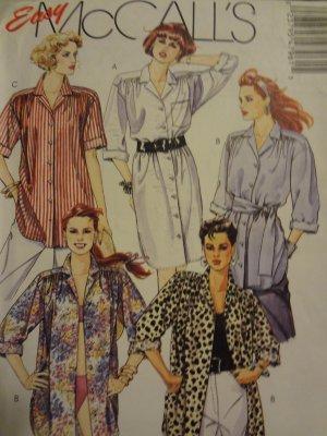 McCalls 4796 Misses' Dress, Shirt & Tie Belt (Size 6-8)