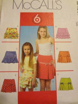 McCalls M4867 Children's & Girls' Skirts (size 12,14,16)