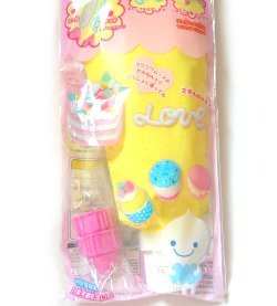 Whip yellow cream air dry modelling clay Japan Fuwa mousse cake top decoration