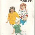 1985 Vintage Kwik Sew Pattern 1502 - Girls Shirt - Sizes 4, 5, 6, 7
