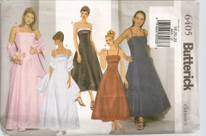 Butterick 6405 Pattern  Evening Dress and  Stole - Sz. 18, 20,  22