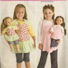Darling Little Girls and Doll Aprons - Simplicity 2465
