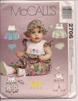 Sweet Baby Rompers - McCalls 2706 Szs. S-XL