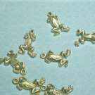 Your Pad or Mine - - Frog Charms for Jewelry Making, Etc.