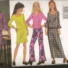 Tres Facile - Fast and Very Easy - Girls Top, Skirt and Pants - Butterick 3218 - Sizes 7, 8, 10
