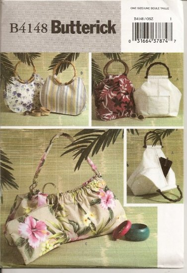 Totes - - Handbags - - Butterick B4148