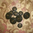 Buttons with Brass Trim