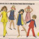 So 60's - Vintage Butterick 5342 Girl's Dress, Jumper, Pants, Shorts Pattern - Sz. 6