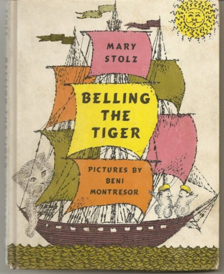 1961 BELLING THE TIGER - - Mary Stolz - - VINTAGE CHILDRENS BOOK