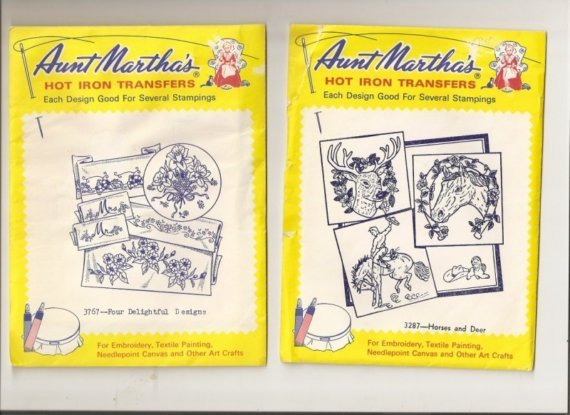 Aunt Martha's Hot Iron Transfers - Horses and Deers and 4 Delightful Designs