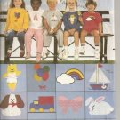 Butterick 6972 - Chidrens' T-Shirt, Shorts, Pants and Animal Transfers - Szs. 5, 6, 6X