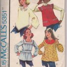 Vintage Girls Tops - McCalls 5351 - Size Medium