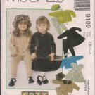 Cozy Togs - Girls' Jacket, Dress, Pants, Hat, Headband - McCall's 9109