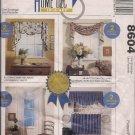 McCalls 8604 Valances, Curtains, Window Treatments