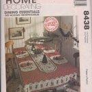 McCalls 8438 Home Decorating Dining Essentials