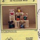 MR. TEDDY ALL SEASONAL BEAR - BEE HIVE DESIGNS - VINTAGE PATTERN