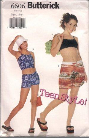 Little Surfer Girl - Butterick 6606 Teen Style Pattern - Sizes9/10 - 13/14