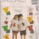 McCall's Creative Clothing 9367 - Childrens' T-Shirt, Pull-on Shorts and Animal Toy Sz. 2, 3, 4