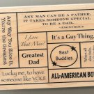 FATHERS DAY, GUY THING . . . NEW RUBBER STAMP  For Cards, Tags,