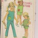 Girls' Summer Play Wear - Vintage  Simpliccity 7113 -Sz. 5
