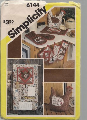 Vintage Simplicity 6144 Kitchen Accessories - Out of Print