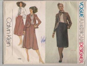 Vintage Vogue 1791  Calvin Klein Misses Separates Sz. 14