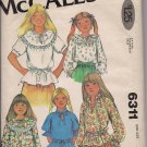 Set of Girls' Bouses - Vintage McCalls 6311 Size 7