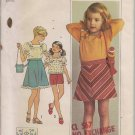 Vintage Simplicity 7504 Girls' Blouse, bias Skirt  &  Bag - Size 5