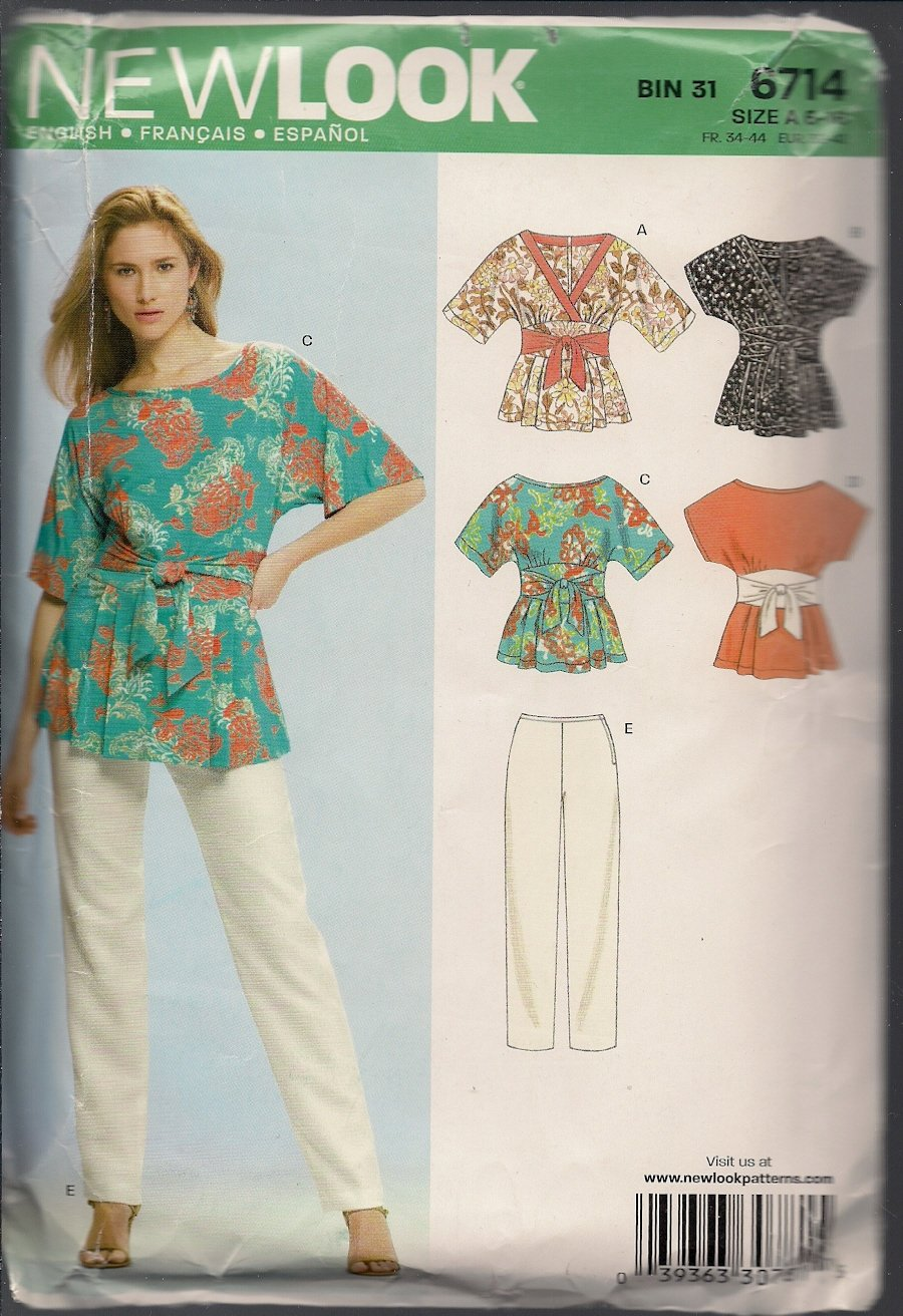 New Look 6714 Misses Tops and Pants - Sz. 6-16 - Summer Separates