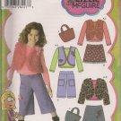 Child's Mini Skirt, Pants, Vest Jacket, Bag t Top - Simplicity  4410 - Sizes 5,-8