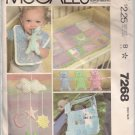Vintage McCalls 7268 Baby Accessories Pattern