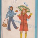 1978 Vintage Girls Unlined Hooded Coat or Jacket - Simplicity 8630 - Sz. 7 & 8