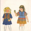 Butterick 4141 Childrens Vest and Dress - Size 3 - Vintage, Out of Print