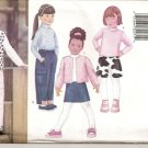 Butterick Fast & Easy 6785 Girls Jacket, Vest, Top, Skirt, Pants Sz. 2-5
