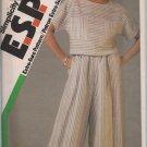 Simplicity E.S.P. 6762  Misses top & Culottes - Sz. 10-14