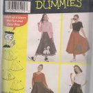 Poodle Skirts for Teens - Simplicity 9926  Waists 23-37 Inches