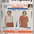 Simplicity 7034 - Misses Full Figure Solutions - Sz. 26W-32W The Hoax System