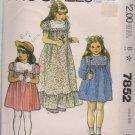 Vintage Girl's Dress Pattern, McCalls 7852 Size 5
