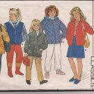 Children's Jacket and Vest - Butterick 6804 Size 4, 5, 6 - Out of Print