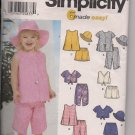 simplicity 7241 6 Easy Girls Size 1/2-4 Tops, Pants, Hat Girls Playwear Casual Clothing 6 variations