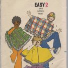 Childrens Poncho -Vintage Butterick 5899 - Size. Small, 4-6
